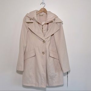 NWT Karl Lagerfeld   Wool Pea Coat w/ Puffer Vest